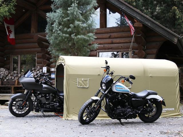 ストレージバイクガレージから、ウルトラ級クルーザーをはじめ大型バイクを格納できるXLサイズを発売