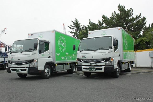 東京納品代行納入車両-電気小型トラック「eキャンター」《画像:三菱ふそうトラック・バス》