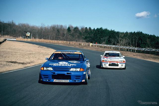 1990年2月、テスト走行《写真 日産自動車》