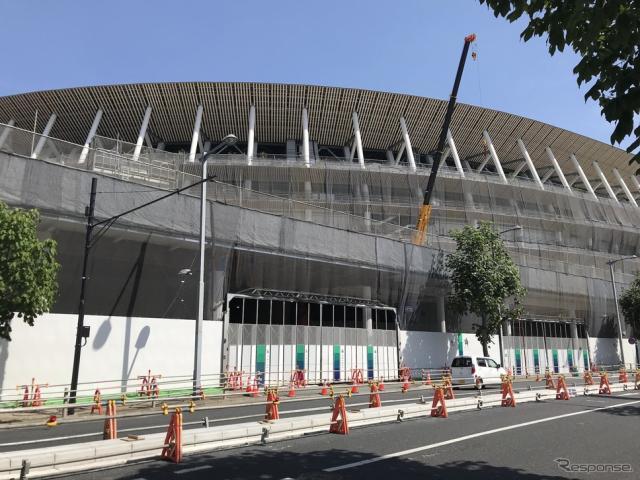 工事中の国立競技場(2019年5月)《撮影 高木啓》