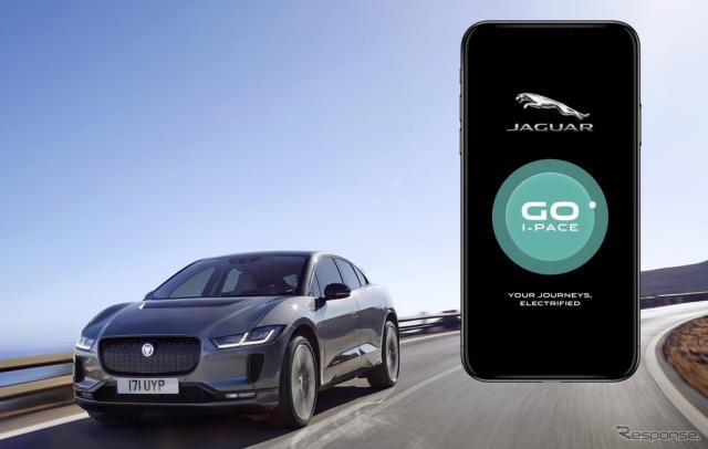 ジャガーの Go I-PACE アプリ《photo by Jaguar》
