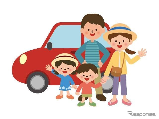 家族ドライブ《イラストAC》