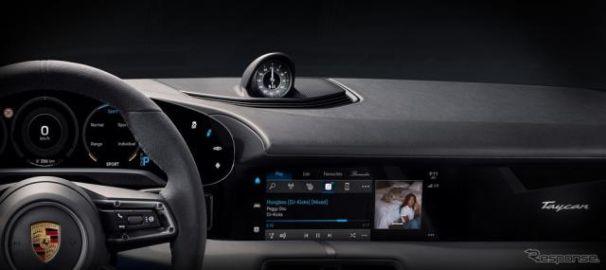 ポルシェのEV『タイカン』、Apple Music搭載へ…自動車初