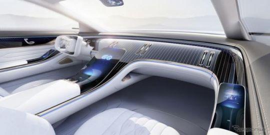 メルセデスベンツ「EQ」初のセダン、インテリアの画像…フランクフルトモーターショー2019で発表予定