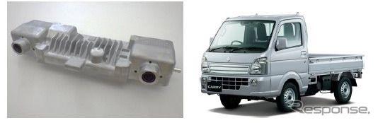 日立オートモティブ、夜間歩行者検知応のステレオカメラをスズキ キャリイ に提供