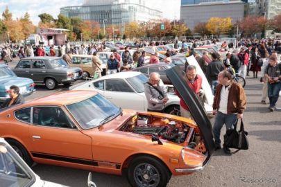 世界に1台の希少車も、昭和のクルマ200台が大阪南港に勢揃い 11月17日