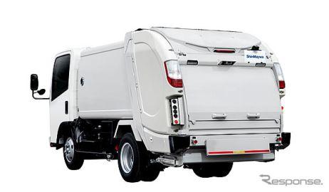 新明和、2・3トン車級回転板式塵芥車の新モデルを発売  基本性能と使いやすさ向上