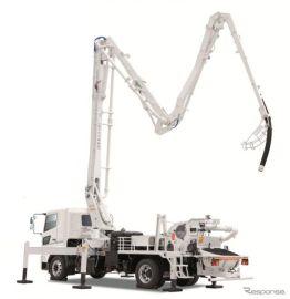 極東開発、新型コンクリートポンプ車発売へ 国内最長26メートル級ブーム搭載