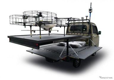 ドローンが軽トラの荷台に発着…ダイハツとナイルワークスが次世代農業EXPO 2019に出展予定