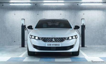プジョー 508 と 508SW 新型のPHV、EVモード最大54km…受注を欧州で開始