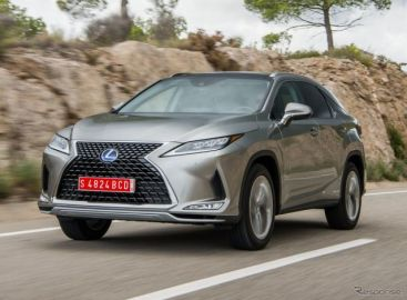 レクサス RX 改良新型、欧州はハイブリッド主軸に…ガソリン車は一部市場のみ