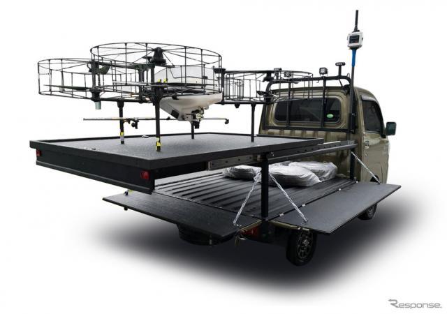 農業用ドローン発着ポート搭載車両のイメージ《画像 ダイハツ工業》
