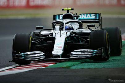 【F1 日本GP】フリー走行2回目もボッタスがトップ、地元ホンダはフェルスタッペンが3番手