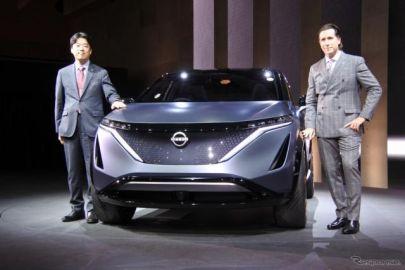 日産、クロスオーバーEV『アリア コンセプト』を世界初公開…東京モーターショー2019