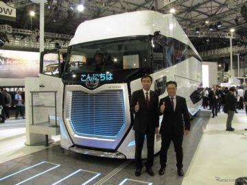 UDトラックス 酒巻社長「物流に革新的なソリューションを提供し、社会をもっと豊かに」…東京モーターショー2019