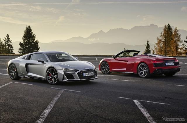 アウディ R8 V10 RWD クーペと スパイダー《photo by Audi》