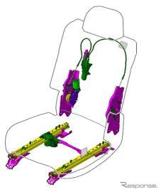 トヨタ紡織、マツダ車にシート機構部品を初供給 CX-8の2列目シートに採用[写真差し替え]