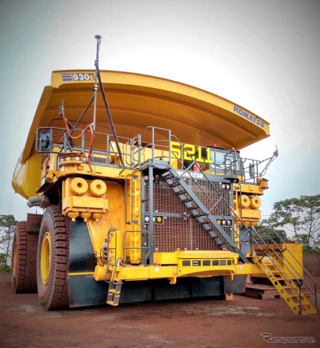 Vale社カラジャス鉄鉱山への導入1号機となる超大型無人ダンプトラック930E《画像:コマツ》