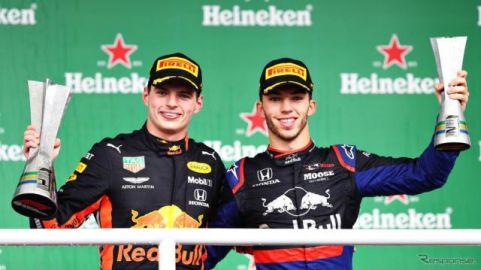 【F1 ブラジルGP】ホンダが1-2フィニッシュ…フェルスタッペン優勝、ガスリー2位