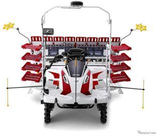 ヤンマー、自動直進機能搭載の乗用田植機発売へ ロボット農機第3弾