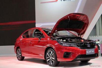ホンダ シティ の駐車ブレーキは電動ではなくサイドレバー式…タイランドモーターエクスポ2019