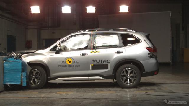 前面オフセットクラッシュテスト《photo by Euro NCAP》