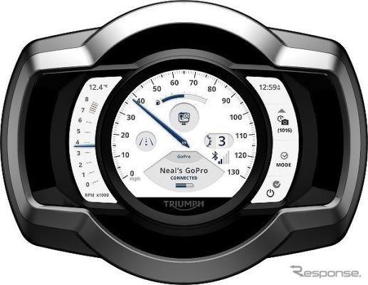 トライアンフ、新コネクティビティシステム発売へ 二輪車初の内蔵型GoProコントロールシステムを搭載