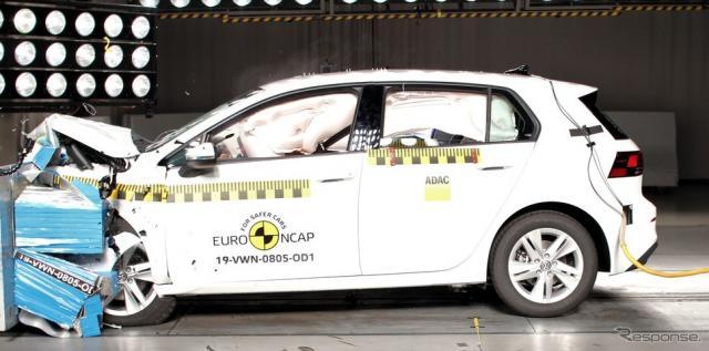 フォルクスワーゲン・ゴルフ 新型のユーロNCAP衝突テスト《photo by EURO NCAP》