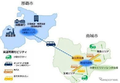 沖縄県南城市で観光型MaaSの実証実験を実施