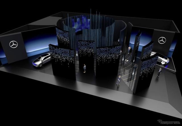 メルセデスベンツのCES 2020のブースイメージ《photo by Mercedes-Benz》