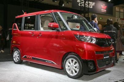 三菱の新型スーパーハイト軽自動車『eKクロス スペース』、『eKスペース』、ステージの反応…東京オートサロン2020