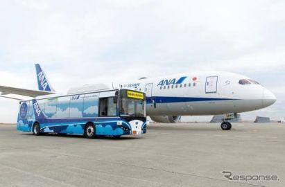 ANA、羽田空港で大型自動運転バス実用化に向けた実証実験開始 2020年内試験運用へ