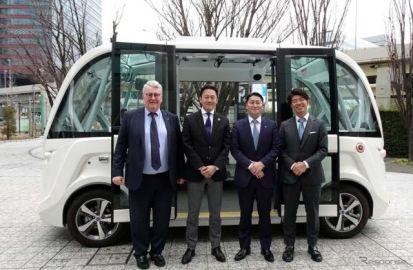 公道での自律走行バス…「横に動くエレベーター、エレベーターは無料」茨城県境町町長