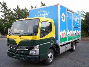 三菱ふそう、電気小型トラック『eキャンター』をカンダHDに納車