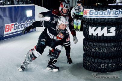 BFグッドリッチ、氷上のダウンヒル「レッドブル・アイスクロス」横浜大会を公式サポート