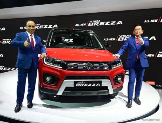 スズキ『ビターラ ブレッツァ』、インド最量販SUVに改良新型…デリーモーターショー2020