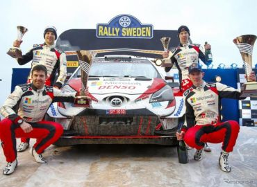 【WRC 第2戦】雪不足のスウェーデン戦、トヨタ1-3-4で今季初V…優勝はエバンス、19歳ロバンペラが3位に