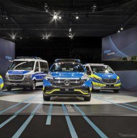 メルセデスベンツ初のEV『EQC』、ポリスカー仕様を発表…ドイツ