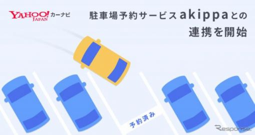 Yahoo!カーナビが、駐車場予約サービス『akippa』との連携をスタート…うろつき抑制