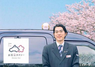 日本交通×第一園芸、「お花見タクシー」を今年も運行へ 2時間コースを新設