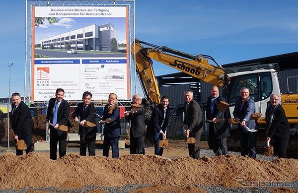 3月2日にアルゼナウ工業エリアで執り行われたGNT新工場の起工式《画像:東レ》