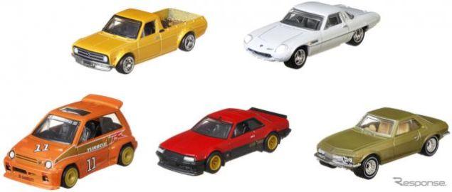 ホットウィール、国産旧車カスタム5モデル発売へ…コスモスポーツやサニトラなど