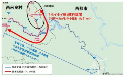佐川/JP/ヤマト、3社共同の村営バスによる貨客混載を開始…全国初