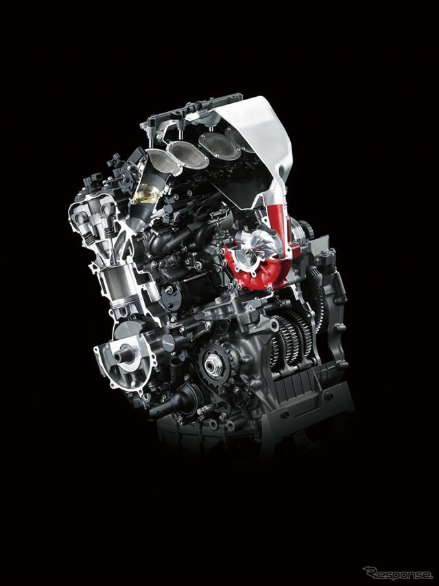 大型二輪車用過給エンジン (Ninja H2R)《画像:カワサキモータースジャパン》