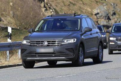 VW ティグアン が大幅改良へ…「R-Line」プロトタイプをスクープ!