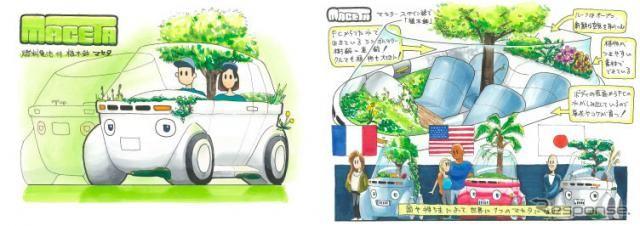 大賞は「植木鉢のような燃料電池車」、中高生カーデザインコンテスト