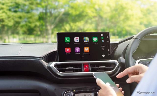トヨタは6月よりディスプレイオーディオの「Apple CarPlay」「Android Auto」対応を無料化する。《写真 トヨタ自動車》