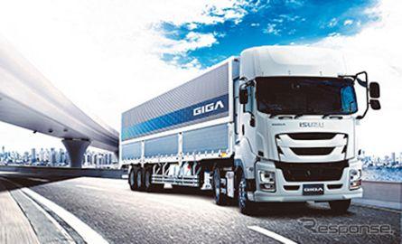 いすゞ、大型トラック『ギガ トラクタ』を改良…安全装備や居住性を向上