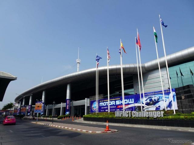 バンコク国際モーターショーの会場となるコンベンションセンター「インパクト・ムアントンタニ」《撮影 会田肇》