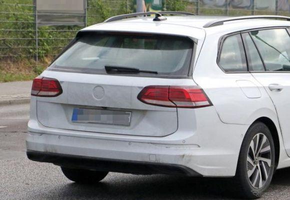 VW ゴルフヴァリアント 新型は「クーペ風ワゴン」に進化…今秋デビューか